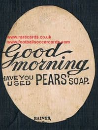 1880s Liverpool St Helens rugby Pears Soap Baines card